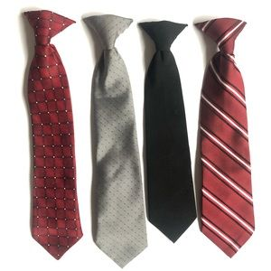 Other - Lot of 4 boys clip on ties